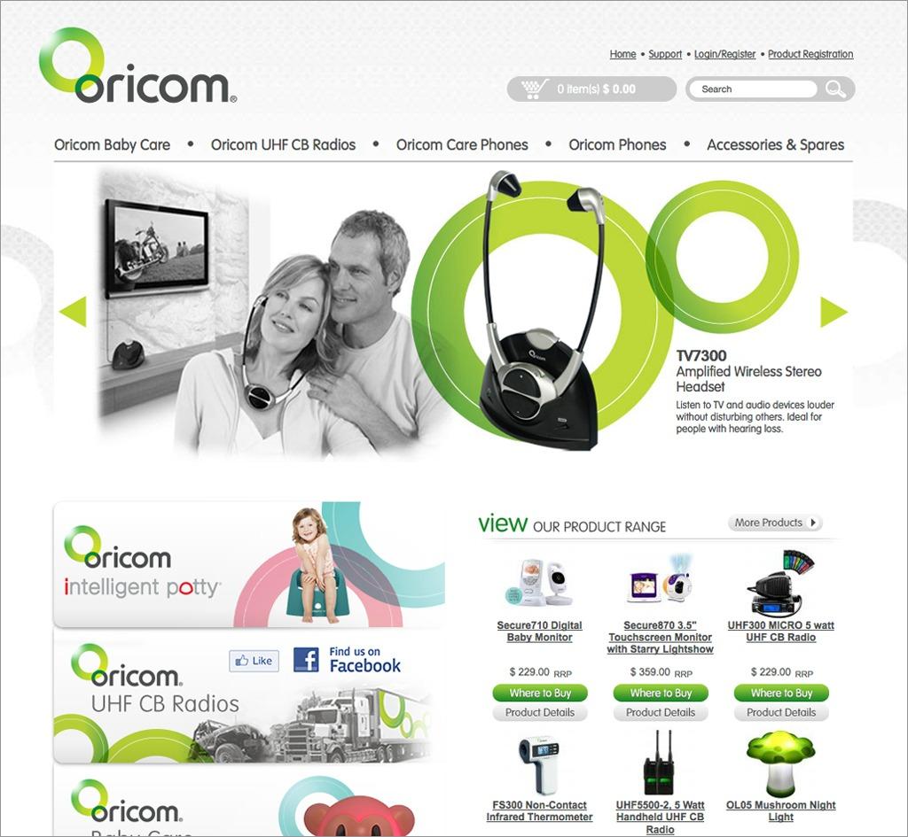 Oricom International Pty Ltd : Website