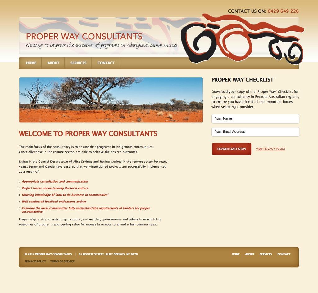 Proper Way Consultants : Website
