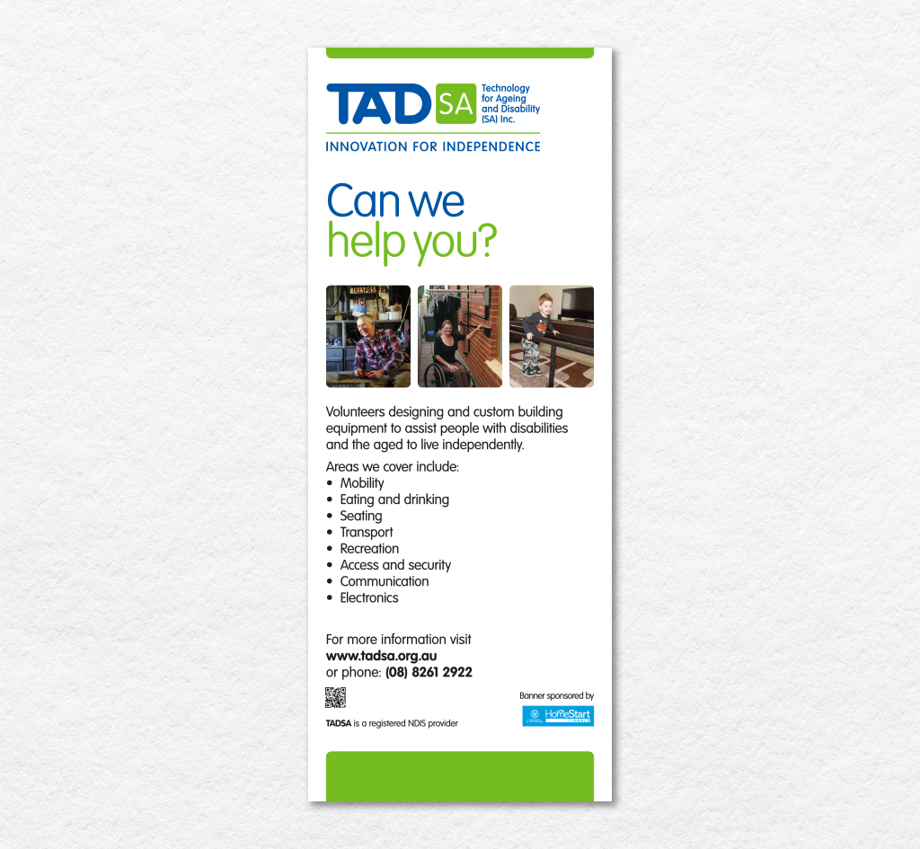 Technology for Ageing and Disability (SA) Inc (TADSA) : Signage