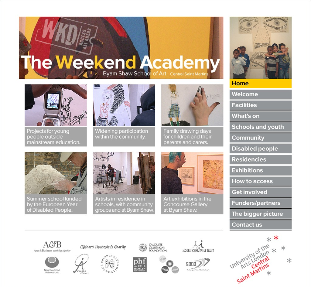 The Weekend Academy : Website