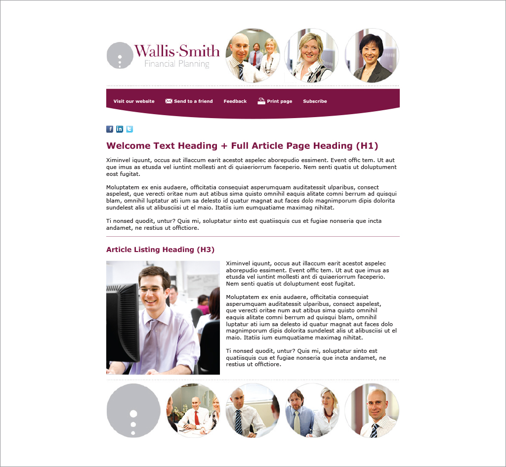 Wallis-Smith Financial Planning : E-newsletter