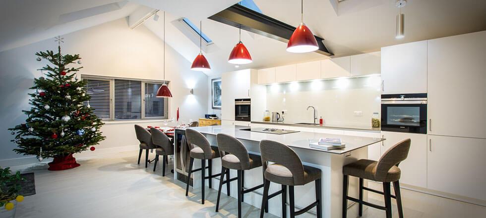 Streamlined white kitchen 13
