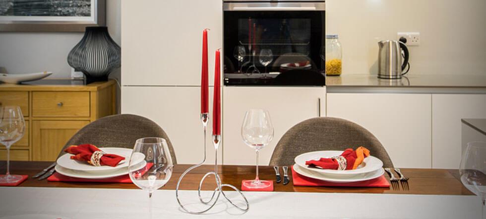 Streamlined white kitchen 11