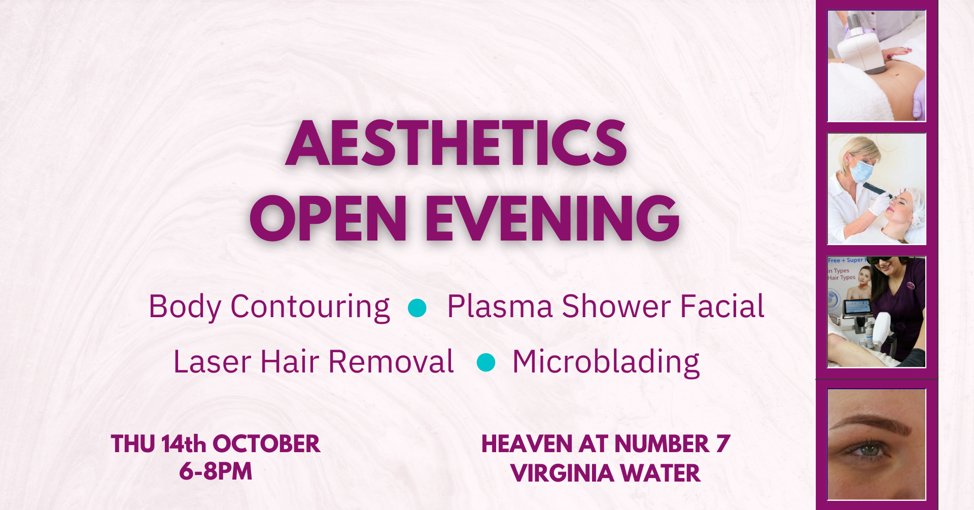 Aesthetics Evening - Date for your Diary