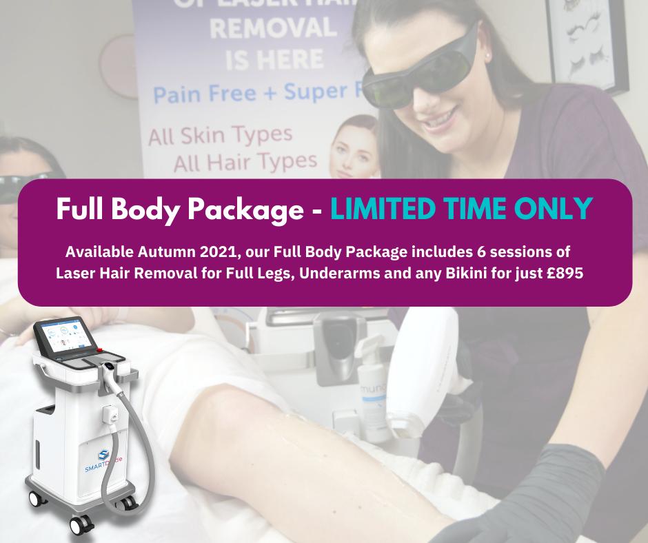 Laser Hair Removal - Full Body Package
