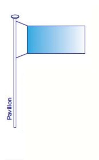 DRAPEAU PAVILLON CLASSIQUE TAILLE VARIABLE