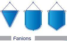 FANIONS FORMES ET TAILLES VARIABLES
