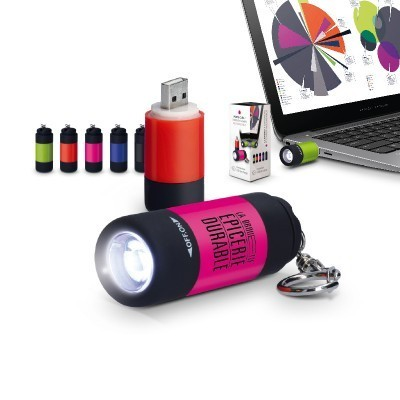 PORTE CLES LAMPE LED RECGARGEABLE USB