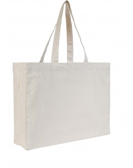 TOTE BAG MALIBU - GRAND SAC COTON SHOPPING + SOUFFLETS