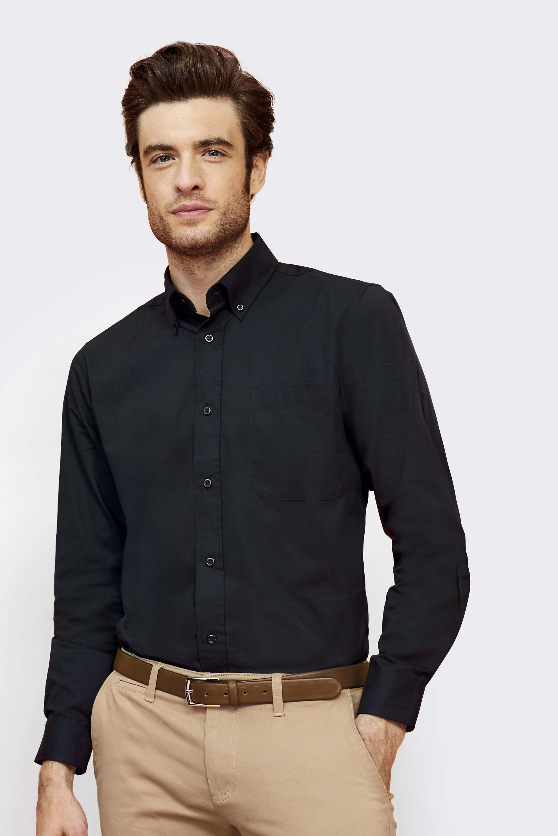 CHEMISE HOMME MANCHES LONGUES EN TWILL SOL'S BEL-AIR