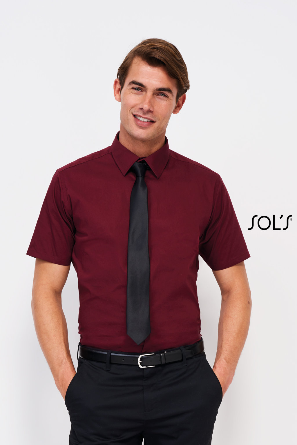 CHEMISE HOMME STRETCH MANCHES COURTES SOL'S BROADWAY