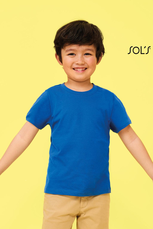 TEE SHIRT ENFANT COL ROND SOL'S REGENT KID