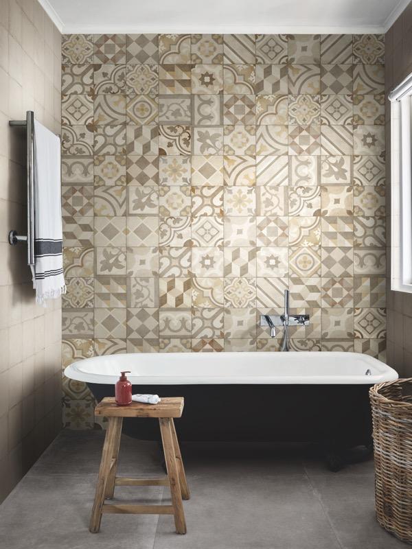 Ottocento Decoro Mix Ambra Porcelain Tiles