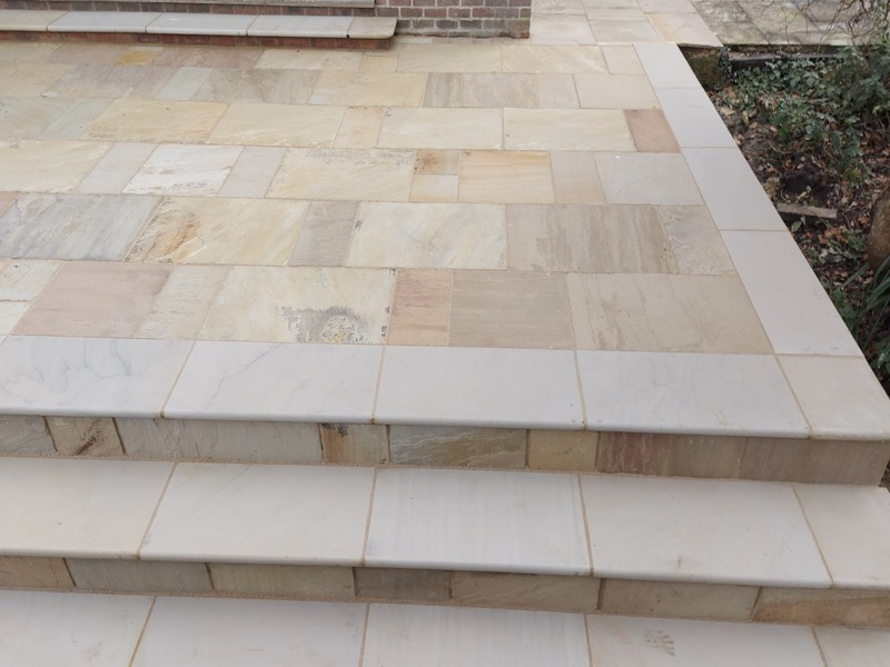 Yellow Mint Copings & Steps