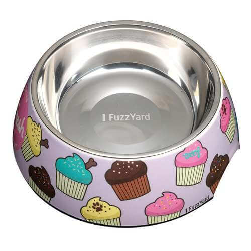 Fresh Cupcakes Easy Feeder Dog Bowl