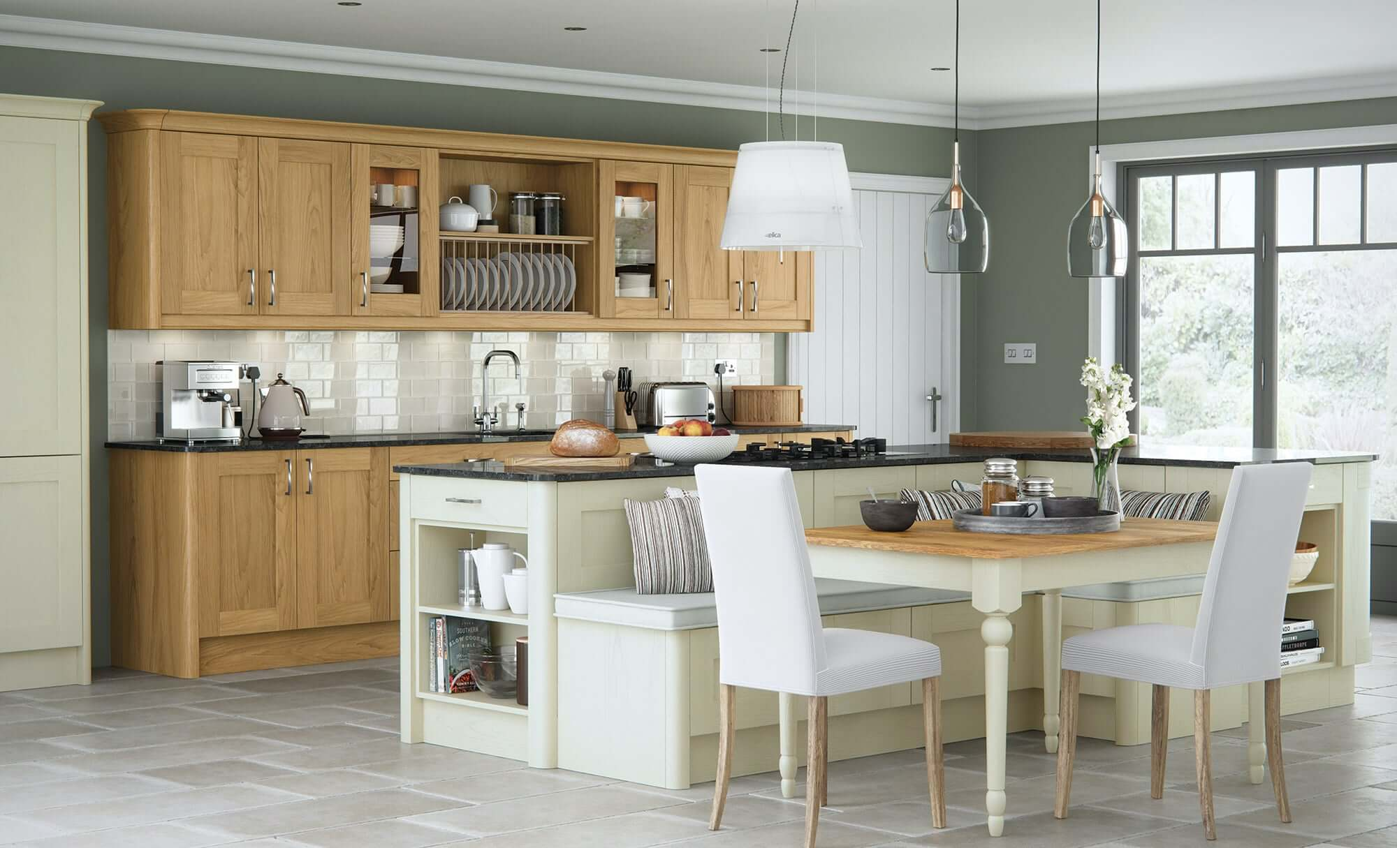 Painted ivory kitchen