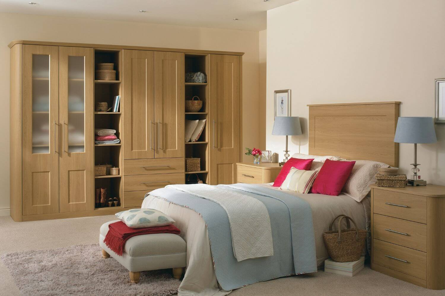 Traditional bedroom with wood finish