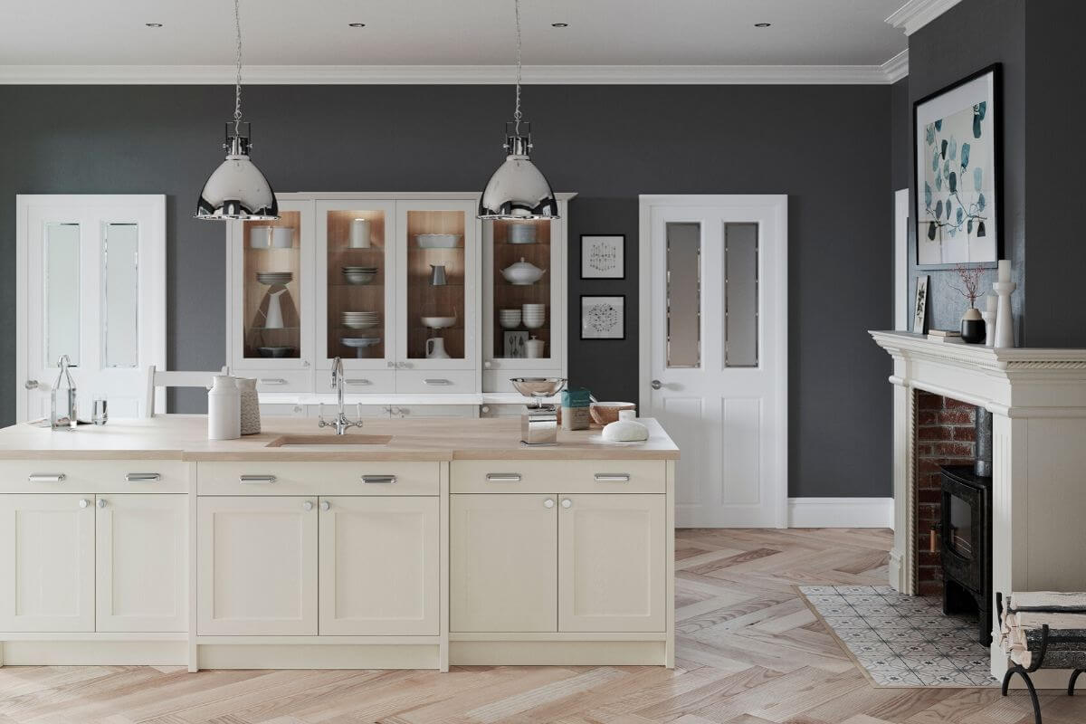 Traditional kitchen space