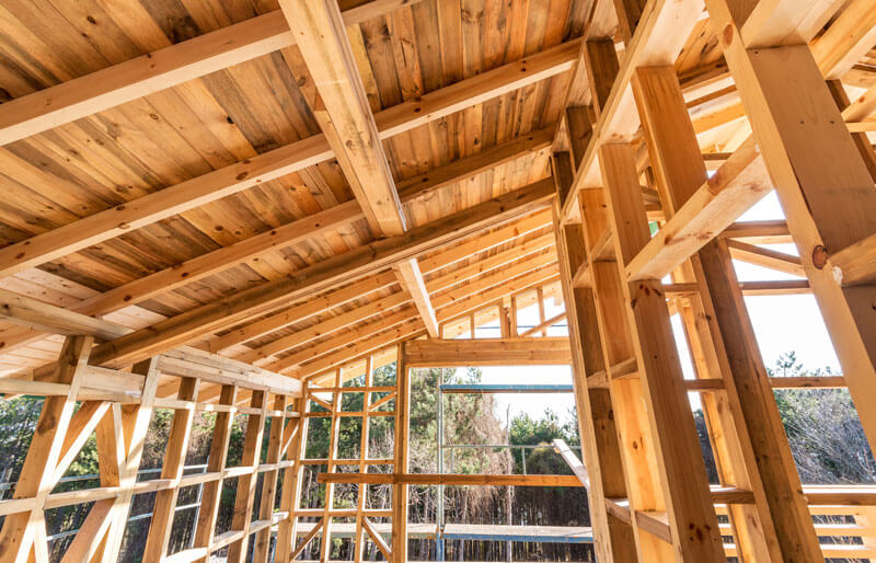 House build wooden frame