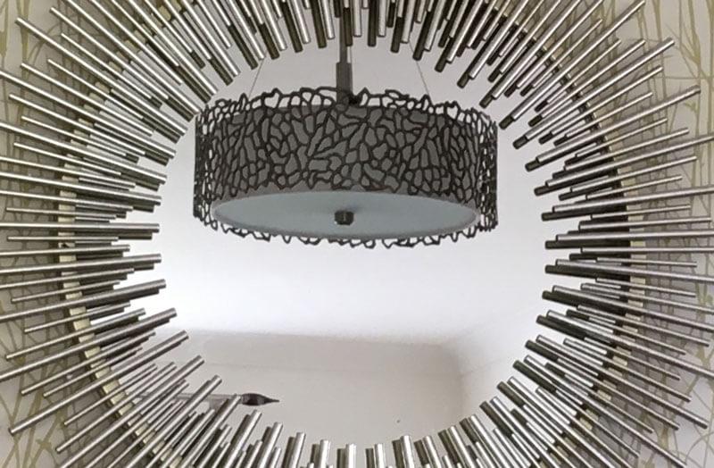 Matching mirror and lamp shade
