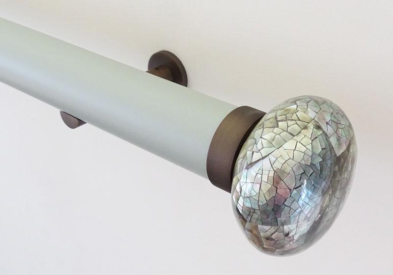 Matt grey curtain pole