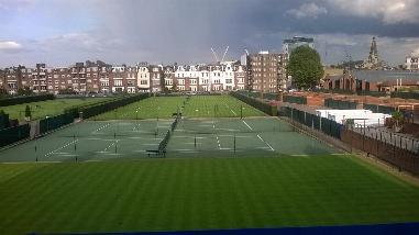 At The Queens Club