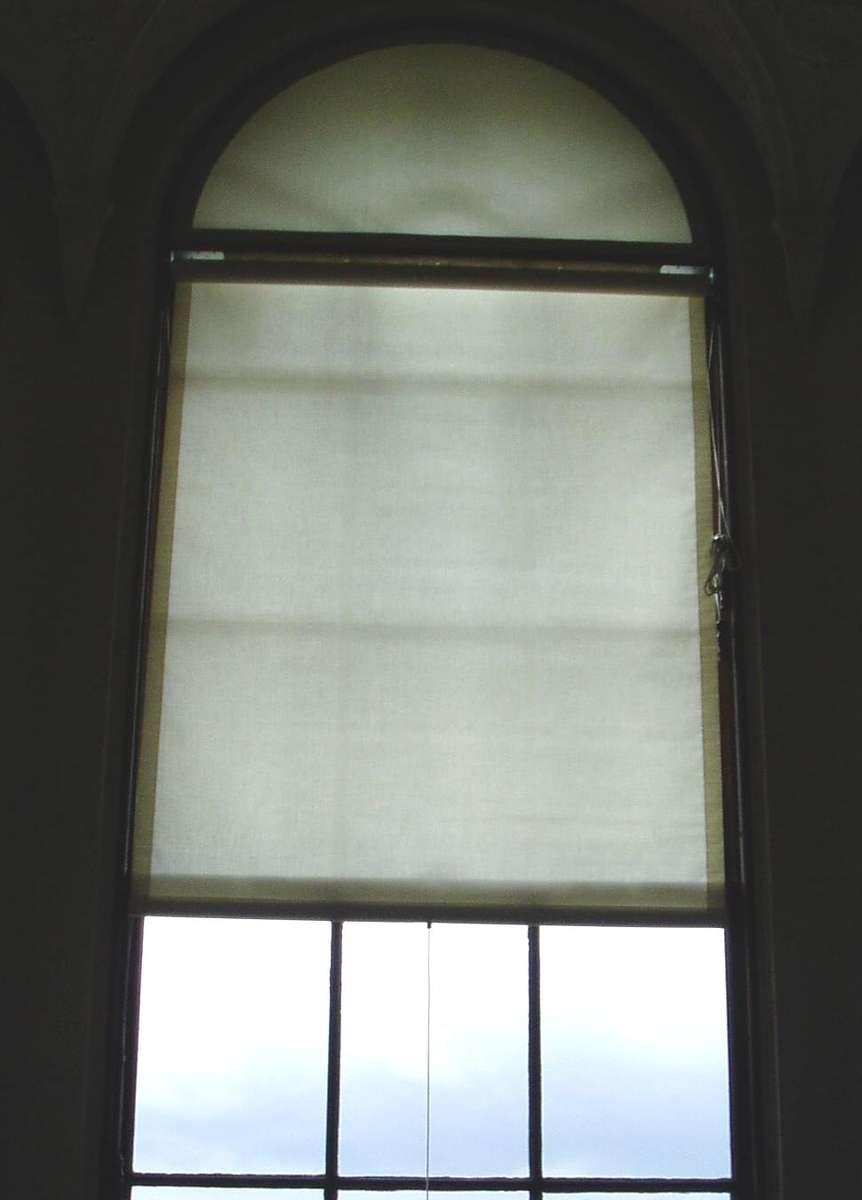 Blind on tall window