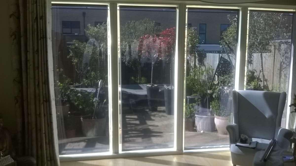 Solar shade blinds patio