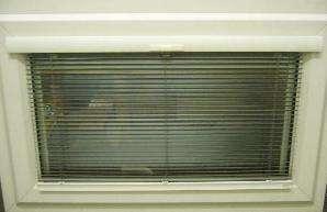 Venetian blinds outside