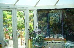 Shade blinds for conservatory