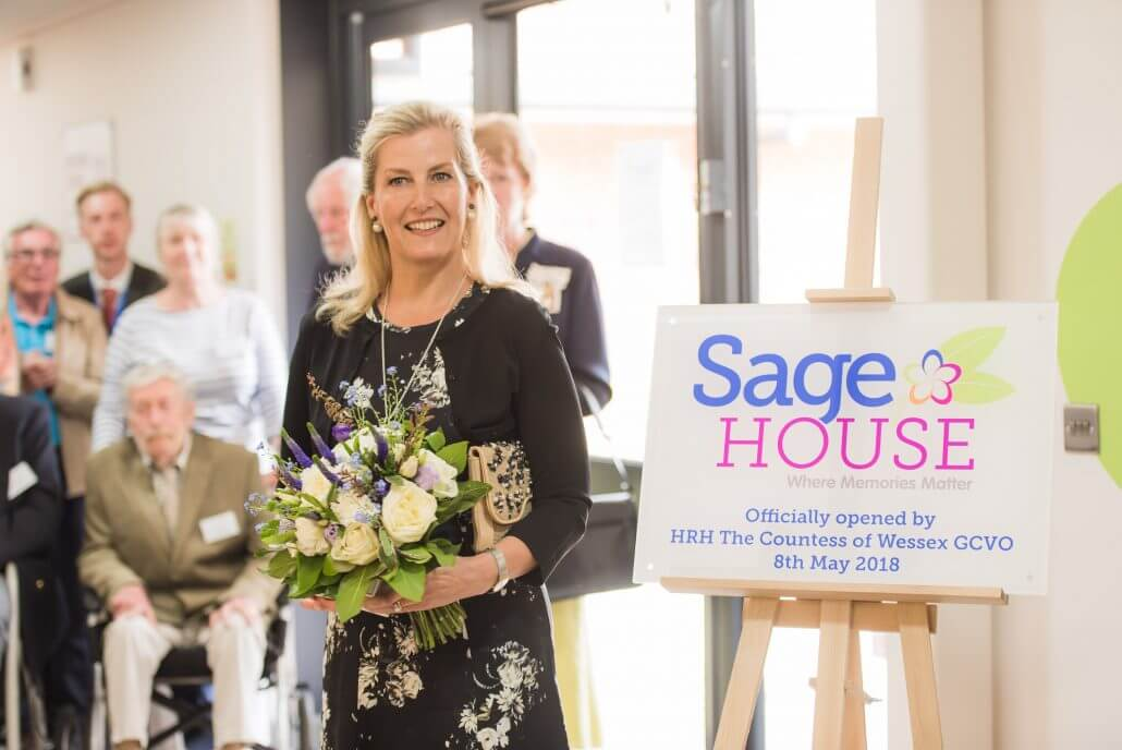 Sage House is officially opened by HRH The Countess of Wessex