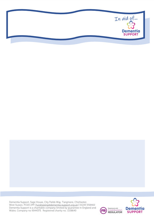 Fundraising blue poster template