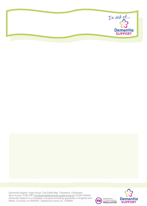 Fundraising green poster template