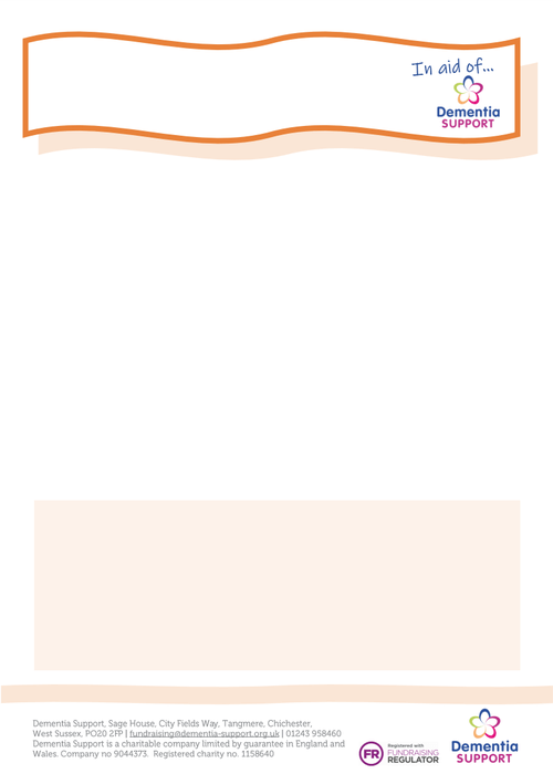 Fundraising orange poster template