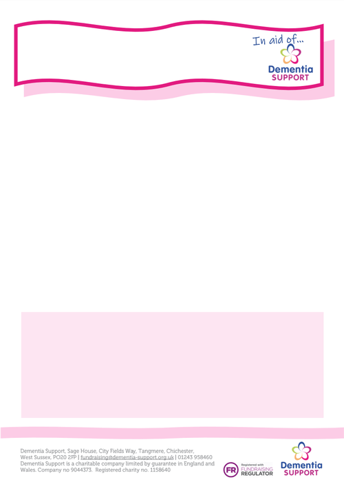 Fundraising pink poster template