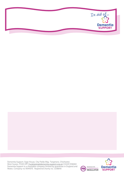 Fundraising purple poster template