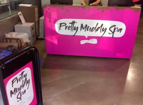 pretty muddy spa exhibition stand