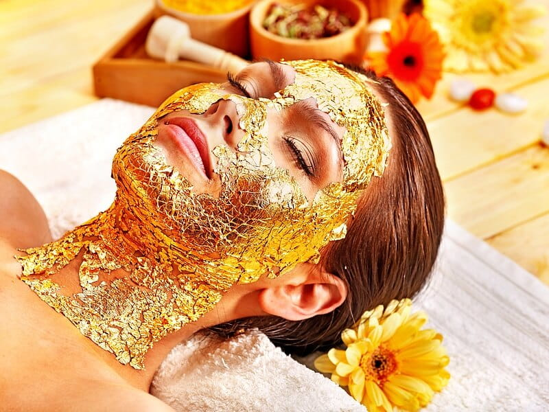 skin hydration with a gold facial