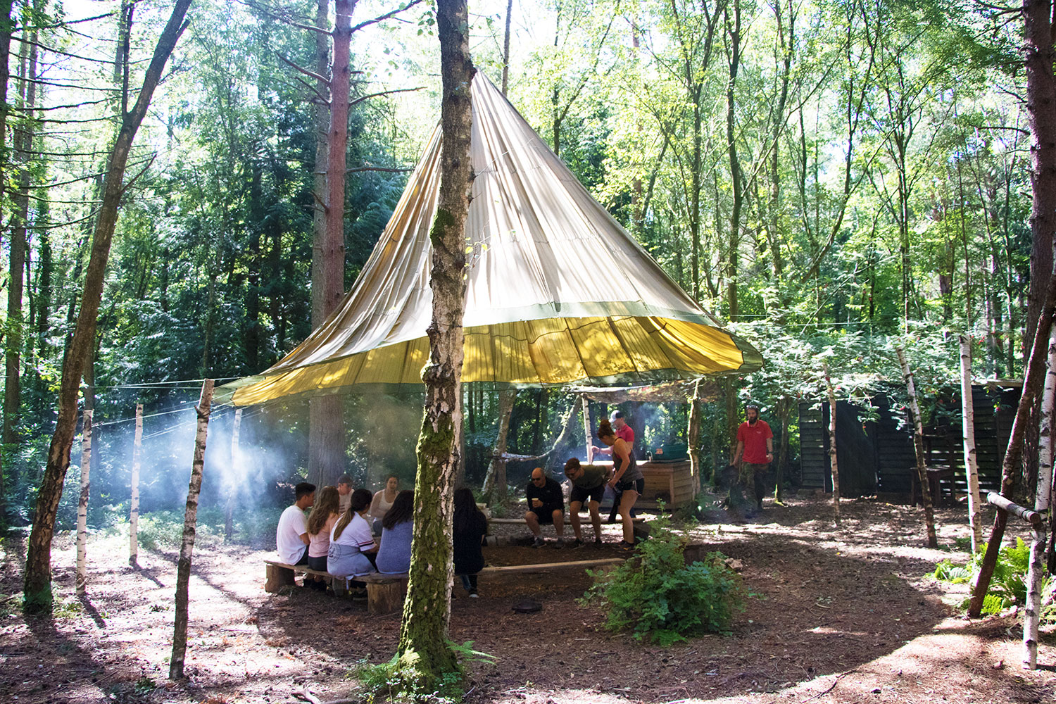 Take part in Bushcraft courses at our woodland base.