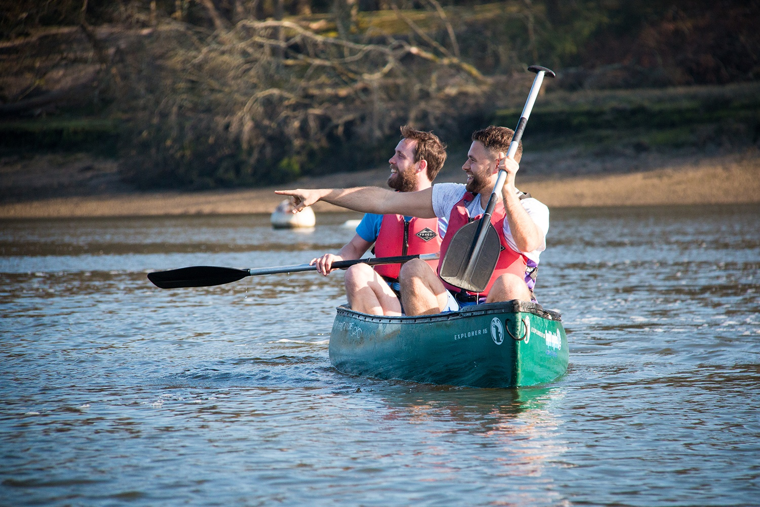 Family Canoeing on the Beaulieu River.