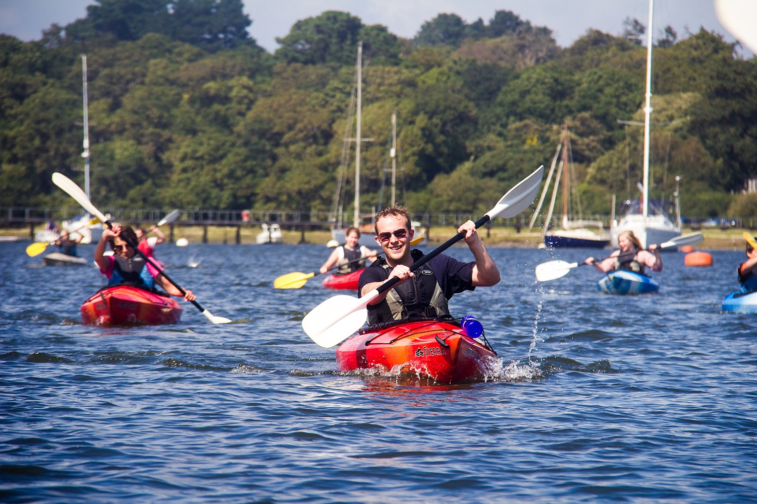 Kayaking Stag Parties in The New Forest.