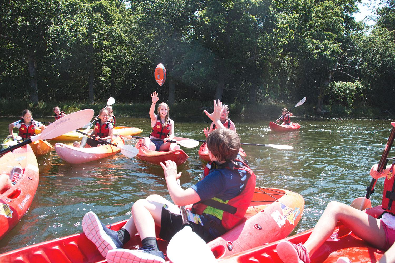 Kayaking Kids Parties on the Beaulieu River.