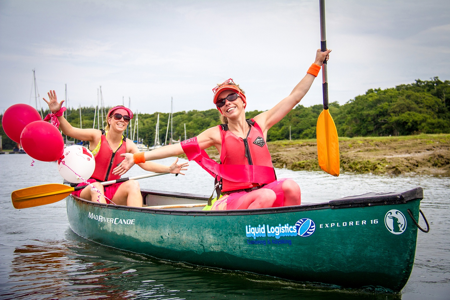 Canoeing Hen Parties in The New Forest.