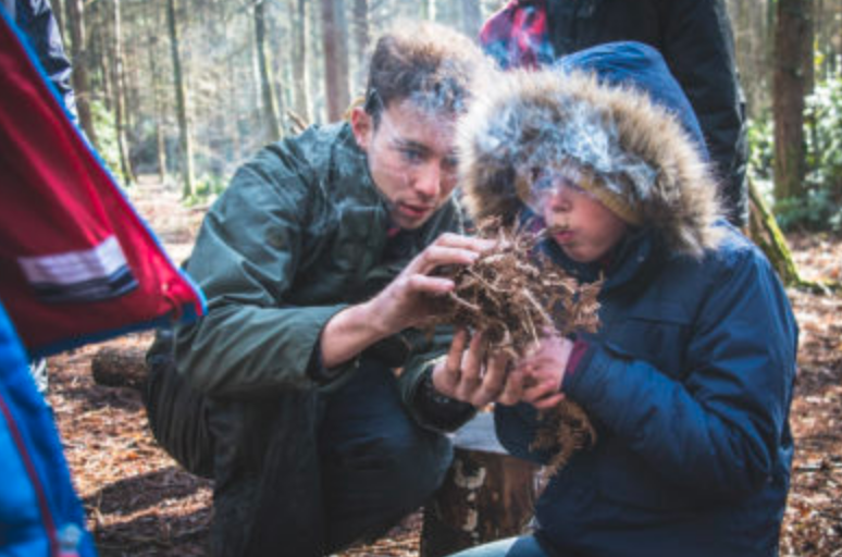 Learn something new like Bushcraft during Kids Parties with New Forest Activities.