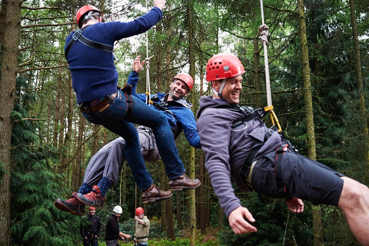 Ropes Course Stag Parties in The New Forest.