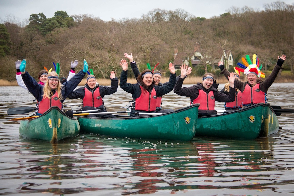 Canoeing and Kayaking on a Winter Paddling session.