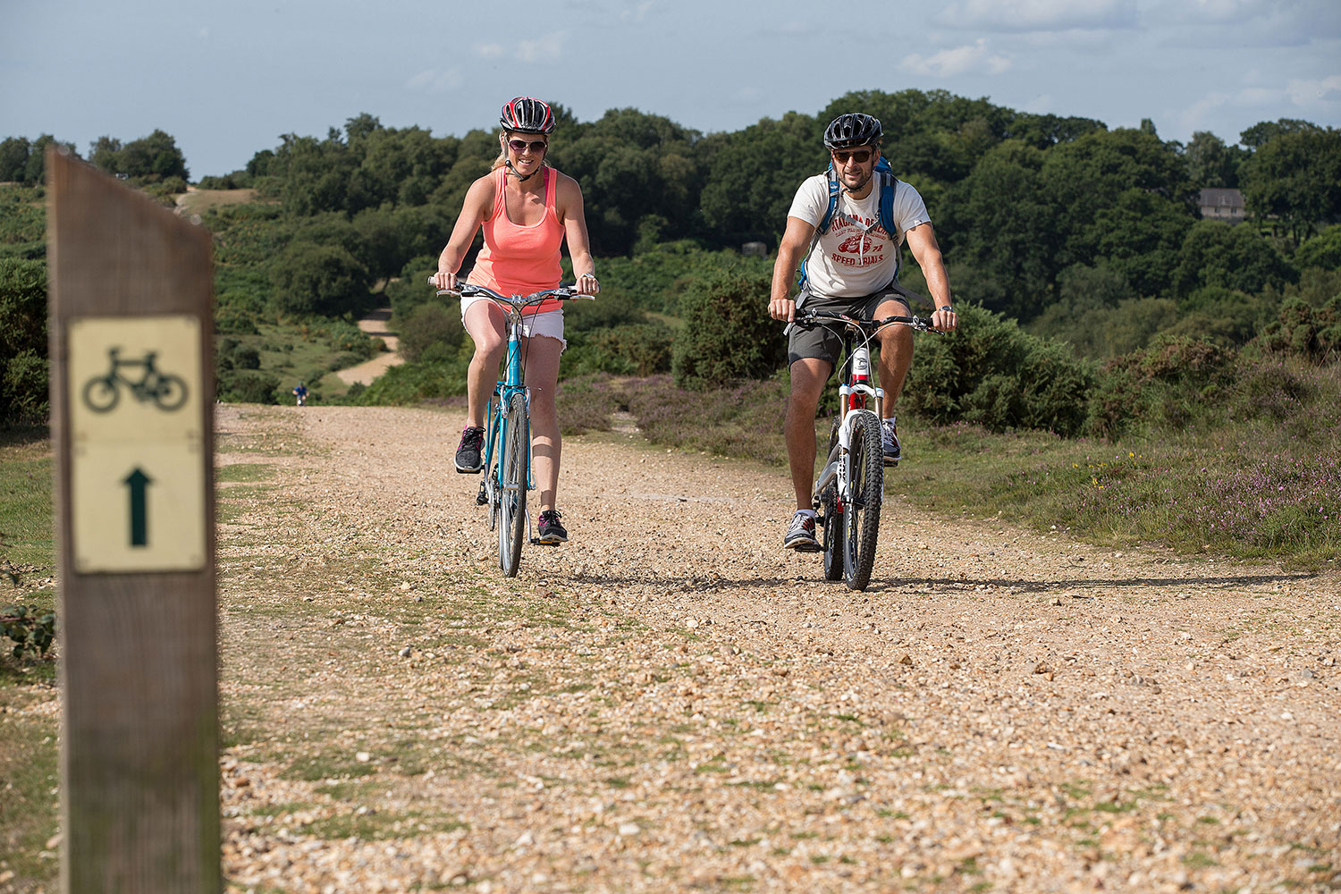 Looking for activities for couples? Hire some bikes and explore The New Forest.