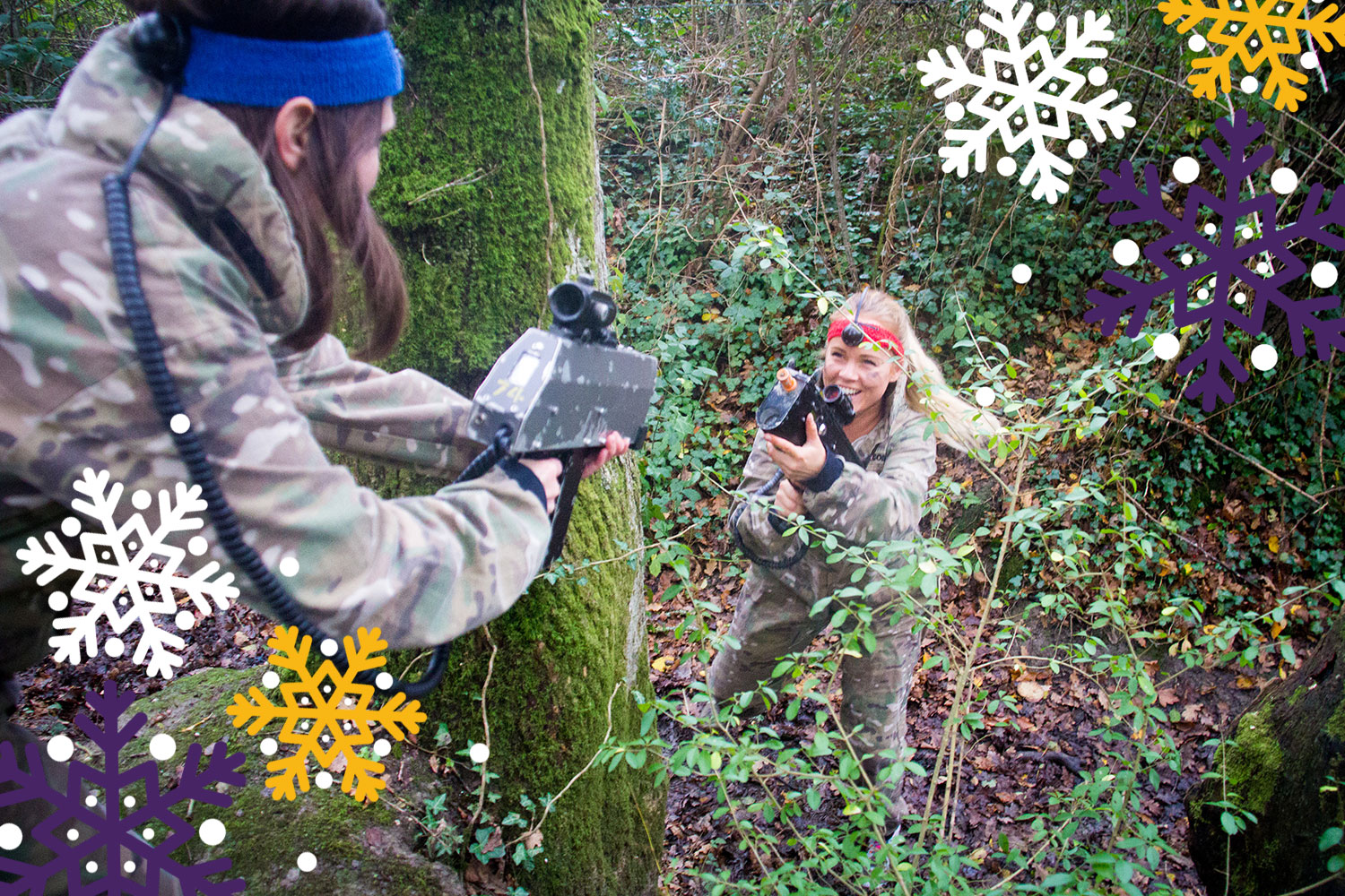 Christmas parties at New Forest Activities include Battlefield LIVE