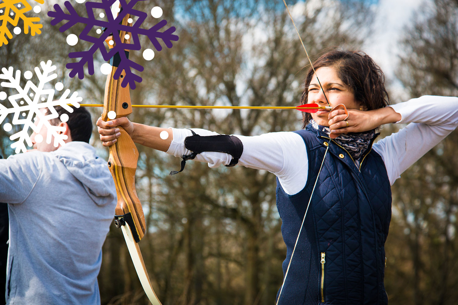 Christmas parties in the great outdoors can include activities like archery
