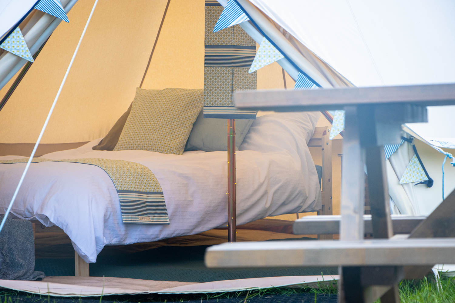Glamping in the new forest tent interior